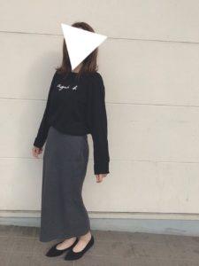 アニエスベーのノームコアファッションをした女性の画像