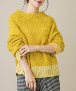 シロクロの清野菜名が着ていた黄色いニット衣装のブランド画像