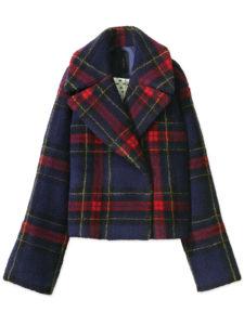 シロクロで清野菜名が着用しているチェック柄ジャケット衣装ブランドの画像