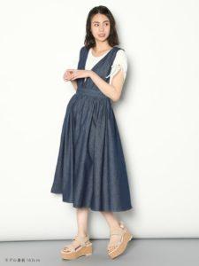 デニムジャンパースカートに関する参考画像