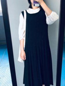 ジャンパースカート黒
