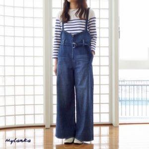 美食探偵明智五郎8話で小芝風花が着用しているデニムサロペットMylankaの参考画像