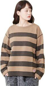 ウチの娘は、彼氏が出来ない!!1話で浜辺美波が着用しているボーダーTシャツCUBW SUGARの参考画像