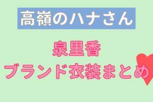 高麗のハナさんで泉里香が着用しているブランドの参考画像